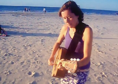 Dalal Marouf on the beach